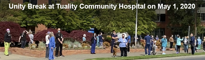 Nurses at Tuality participate in a Unity Break