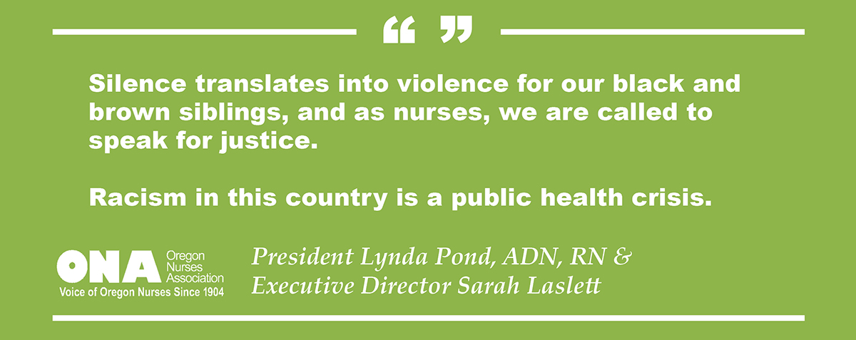 ONA quote block: Racism is a public health crisis