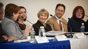 ONA's Susan King, RN, sits on the panel discussion.