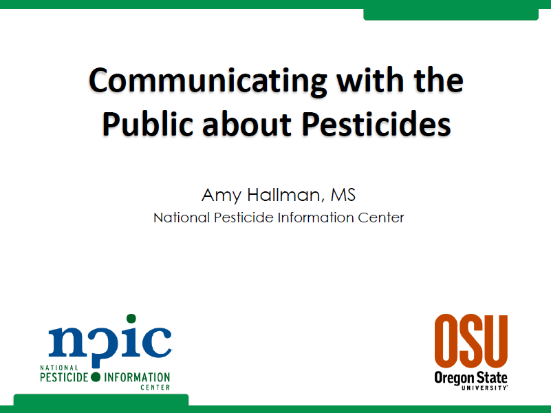 Communicating with the Public about Pesticides Powerpoint