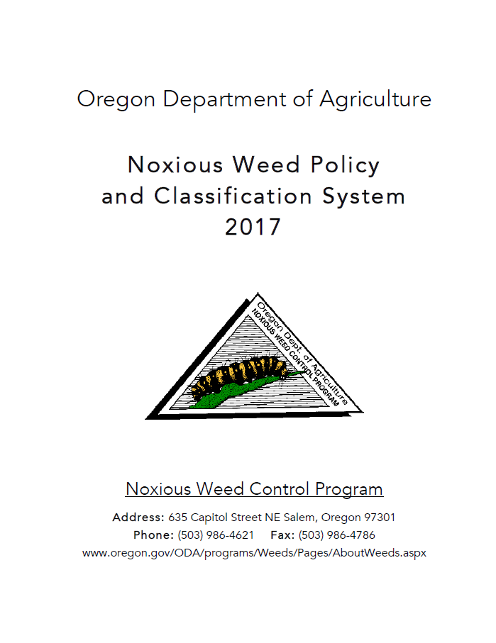Noxious Weed Policy and Classification