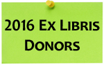 2016 Ex Libris Donors