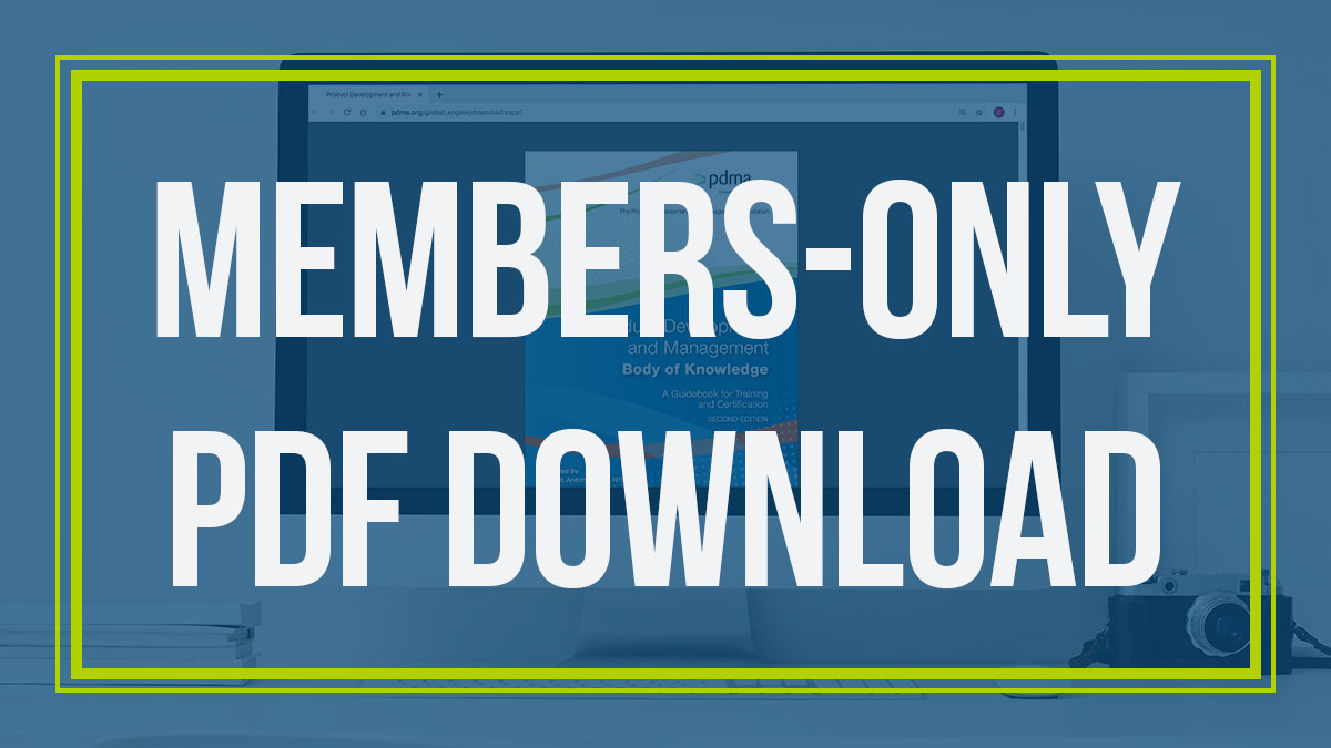 PDMA members can download the Book of Knowledge, 2nd Edition for FREE today!