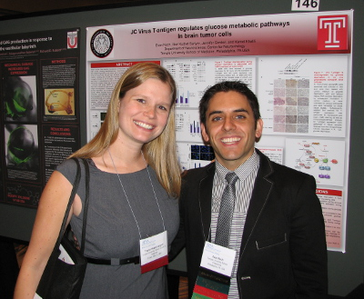 Taylor Heald-Sargent and Evan Noch at the Poster Session