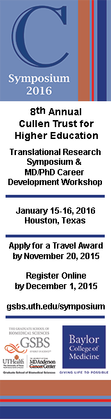Cullen Trust Symposium 2016 Translational Research Symposium Advertisement Banner - Click to learn more