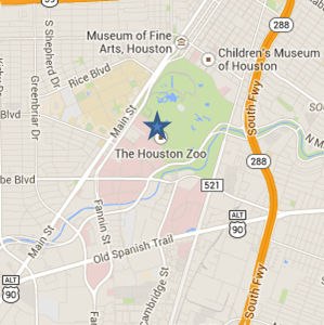 Map of Hermann Park
