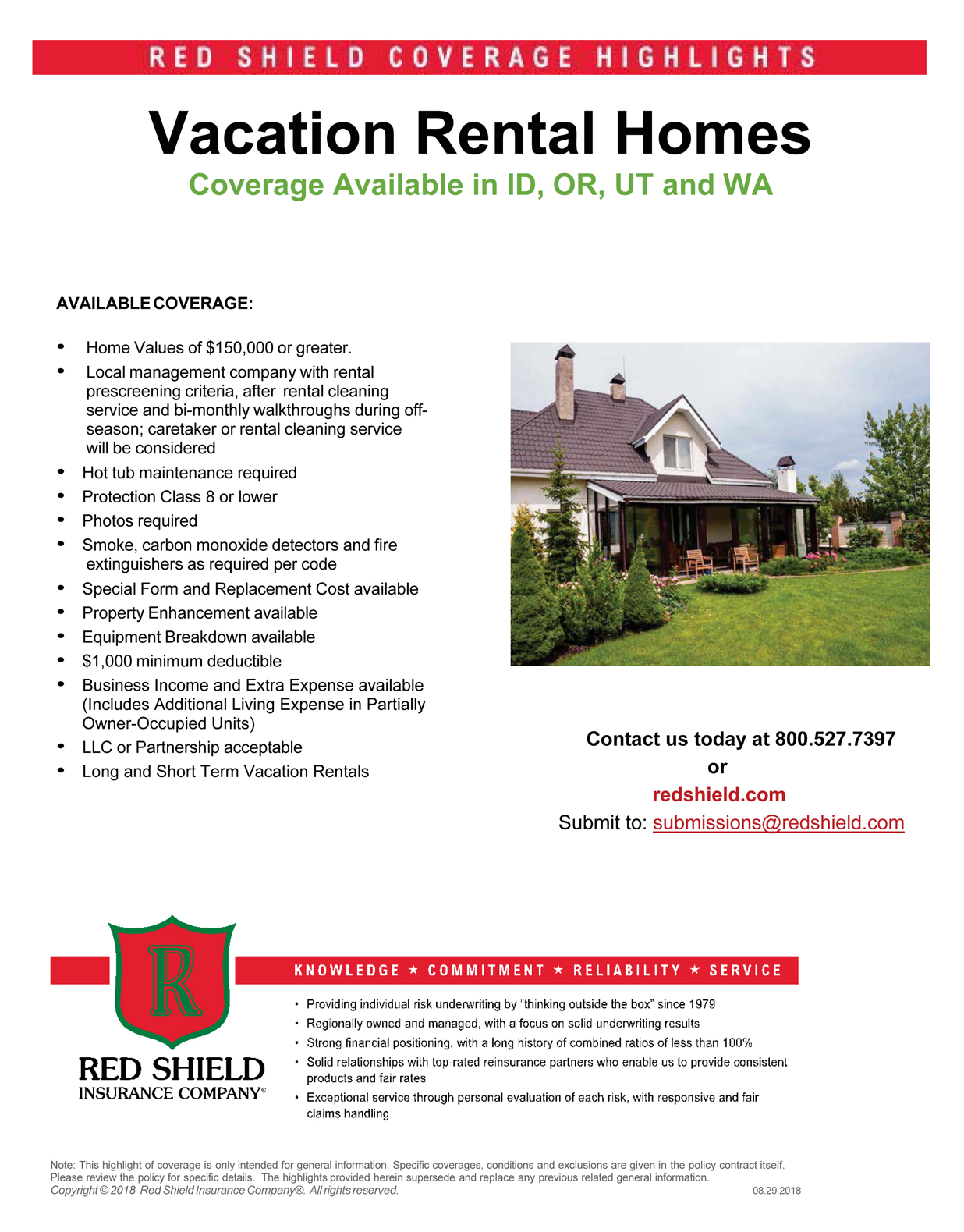Red Shield Vacation Home Insurance