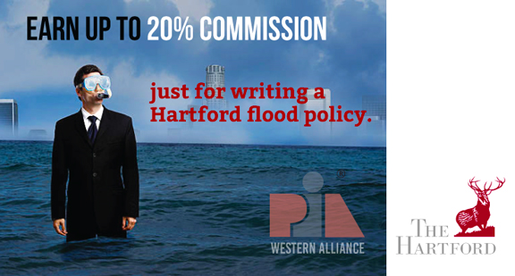 PIA Western Alliance Hartford Flood program earn 20% commission