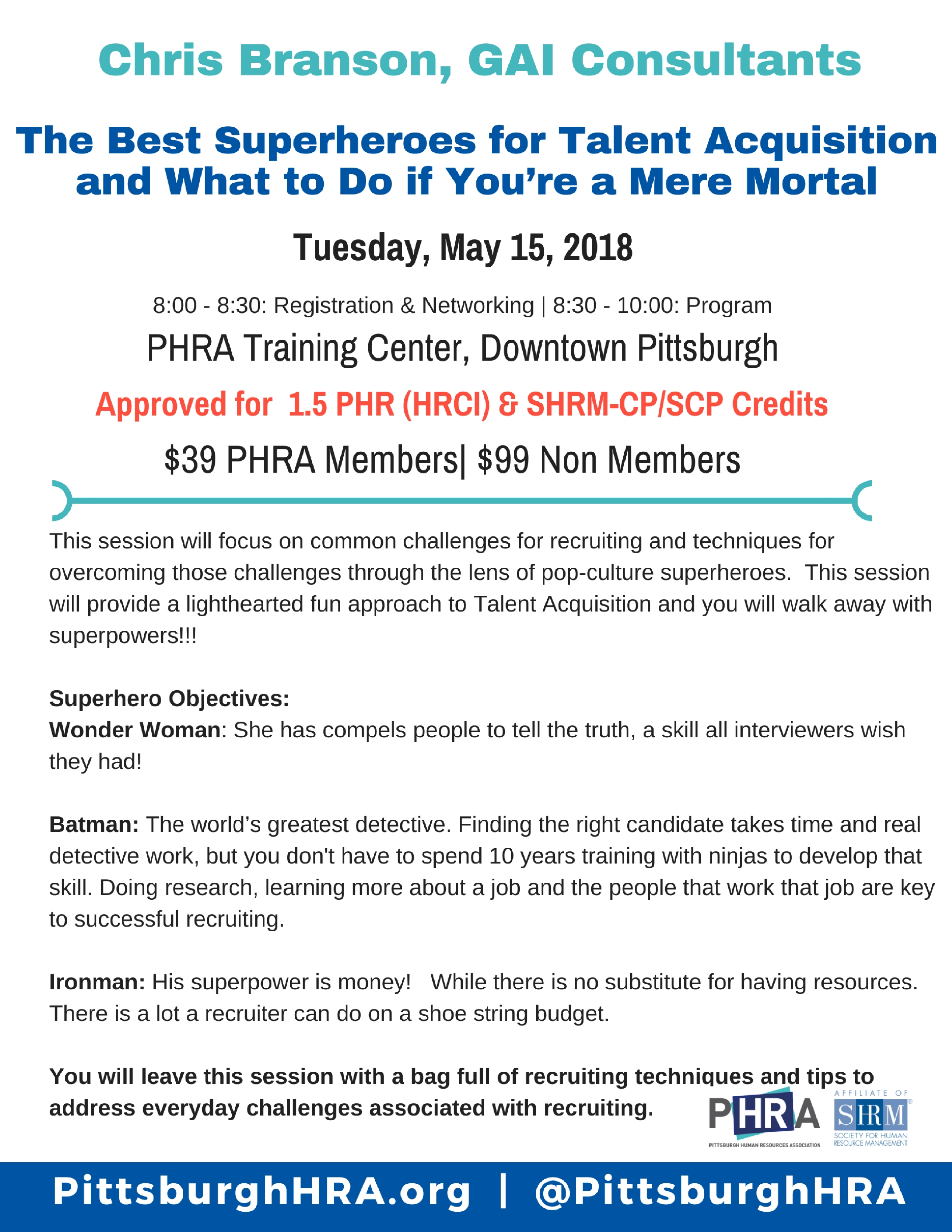 Pittsburgh human resources association about the speaker chris branson is an hr professional and has been working in talent acquisition for the past 7 years his experience ranges from high xflitez Choice Image