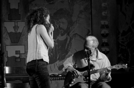 Paul Rishell and Annie Raines, Blues Duo. Photo by Michael Verlindin