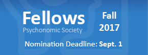 The application deadline for the Fall 2017 class of Psychonomic Society Fellows is Sept. 1.