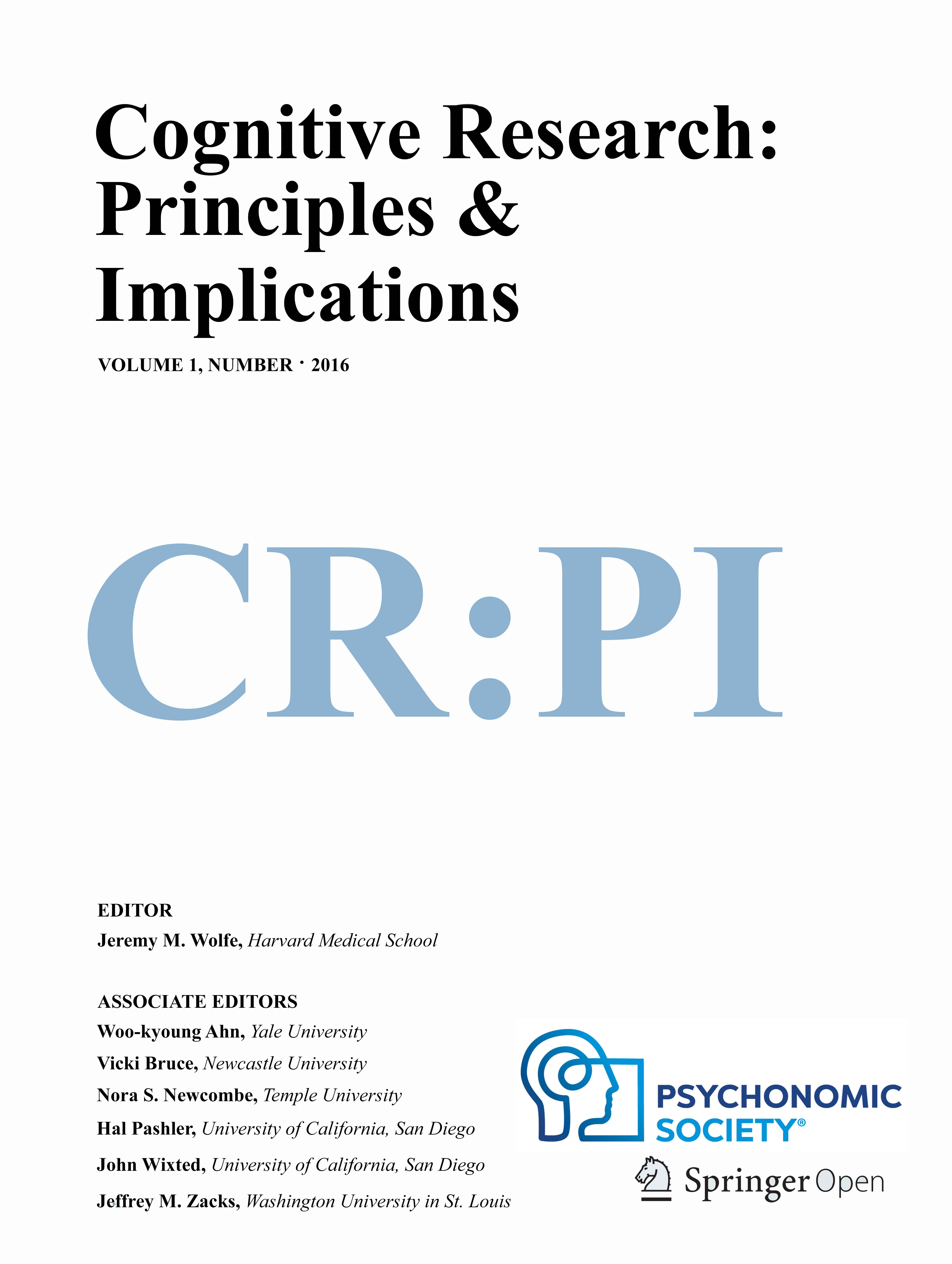 Cognitive Research: Principles & Implications