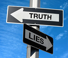 Sign post - Truth/Lies