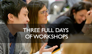 3 full days of workshops