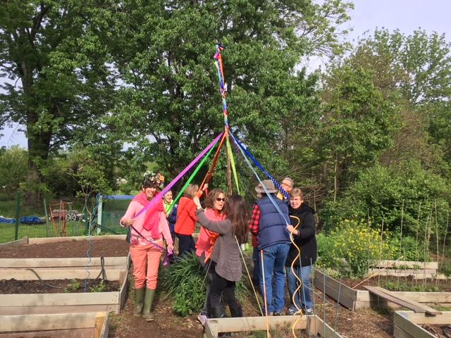 Maypole Celebration - Launching the Veggie Garden