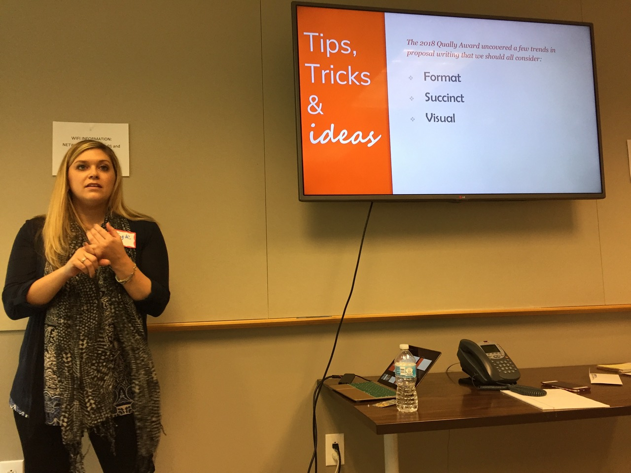 Kayte Hamilton presents at Philly Chapter meeting