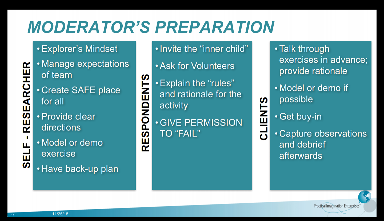 Moderator's Preparation