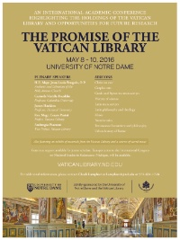The Promise of the Vatican Library - Academic Conference