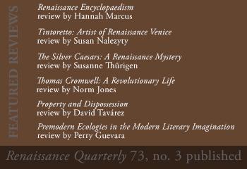Renaissance Quarterly 73 no 3 Featured Book Reviews