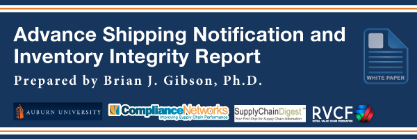 Advance Shipping Notification and Inventory Integrity Report