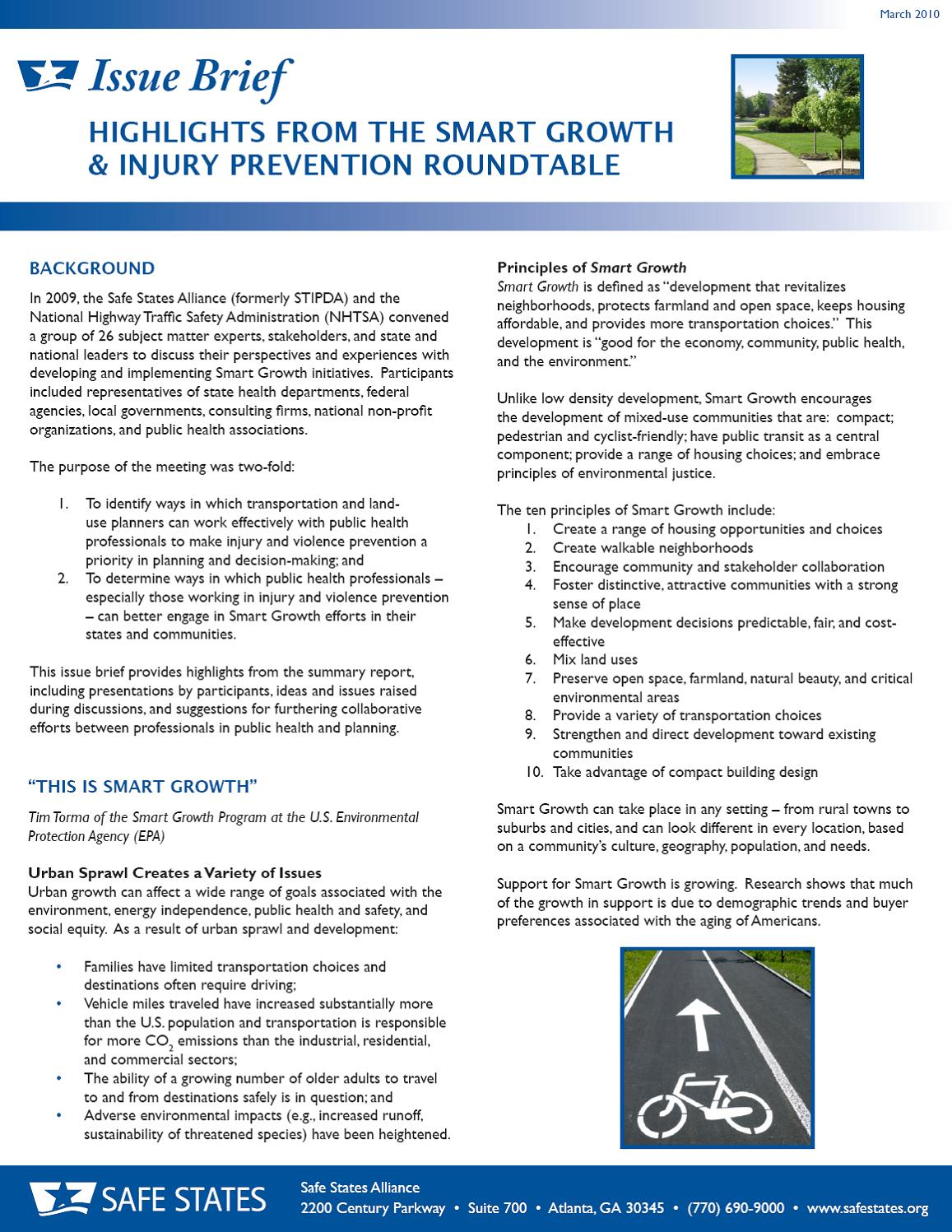 Fact sheets issue briefs safe states alliance in july 2009 safe states alliance and the national highway traffic safety administration nhtsa convened a group of twenty six subject matter experts pronofoot35fo Gallery