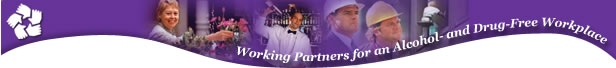 Working Partners for an Alcohol- and Drug-Free Workplace. Photos representing the workforce - Digital Imagery© copyright 2001 PhotoDisc, Inc.
