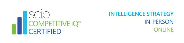 Market & Competitive Intelligence Training & Certification