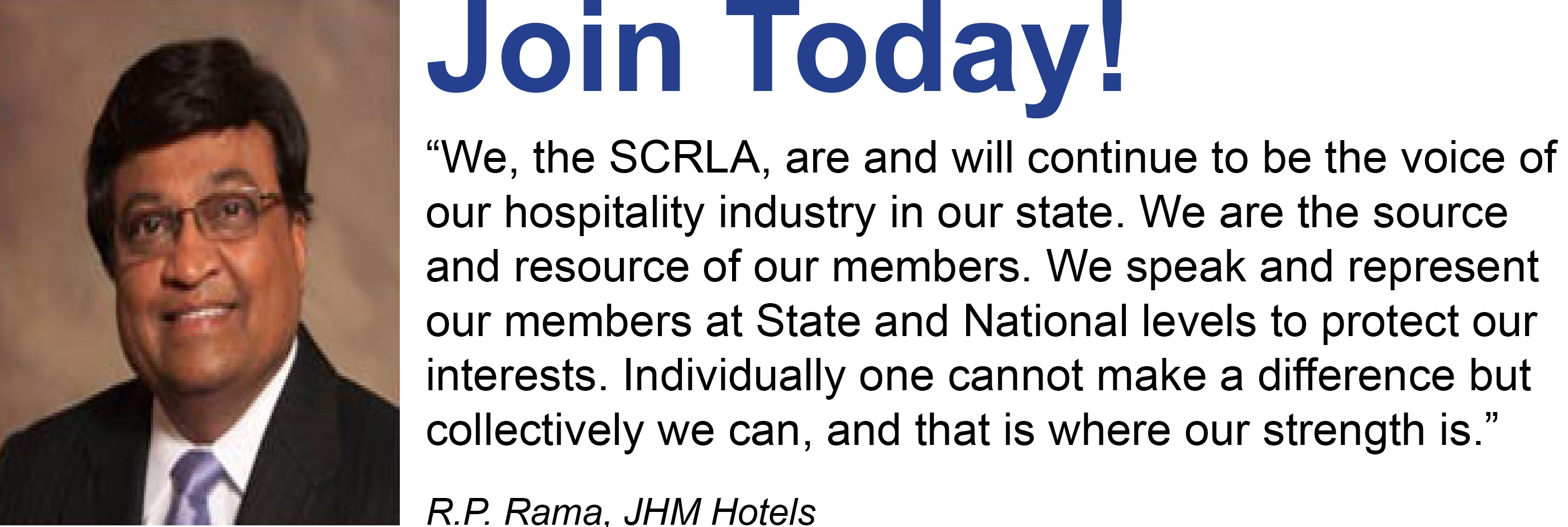 Join Today - RP Rama Quote
