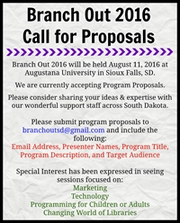 Branch Out 2016 Call for Program Proposals