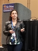 Shira Joudan presenting her SETAC-ACS ENVR exchange award presentation in New Orleans