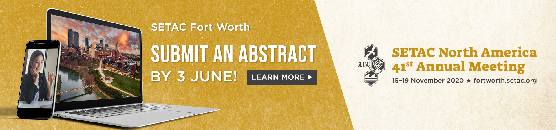 Submit an abstract for SETAC Fort Worth