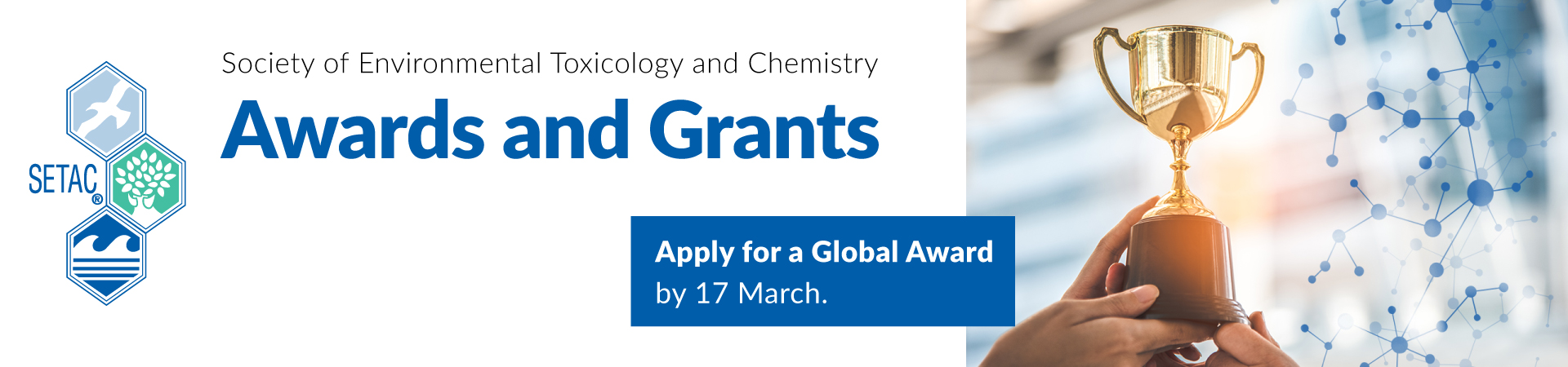 Apply for a SETAC Global award by 17 March