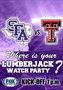 Texas Tech vs SFA Watch Parties