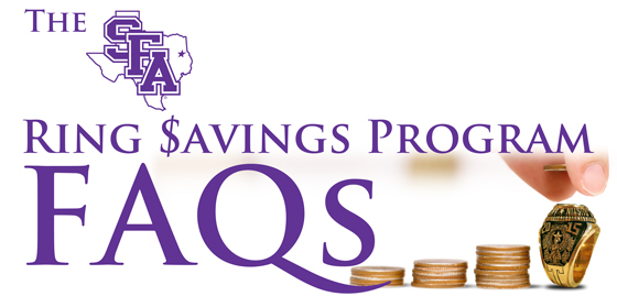 SFA Ring Savings Program FAQs