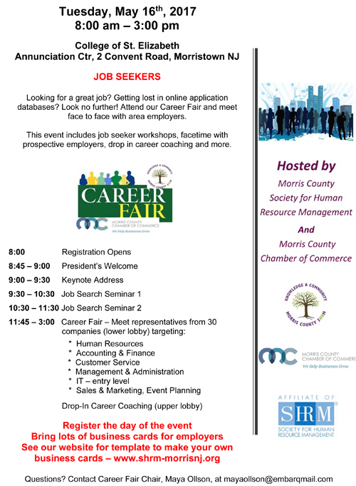 2017 career fair society for human resource management morris click here to create your own business card reheart Image collections