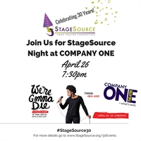 StageSource Night at Company One's WE'RE GONNA DIE