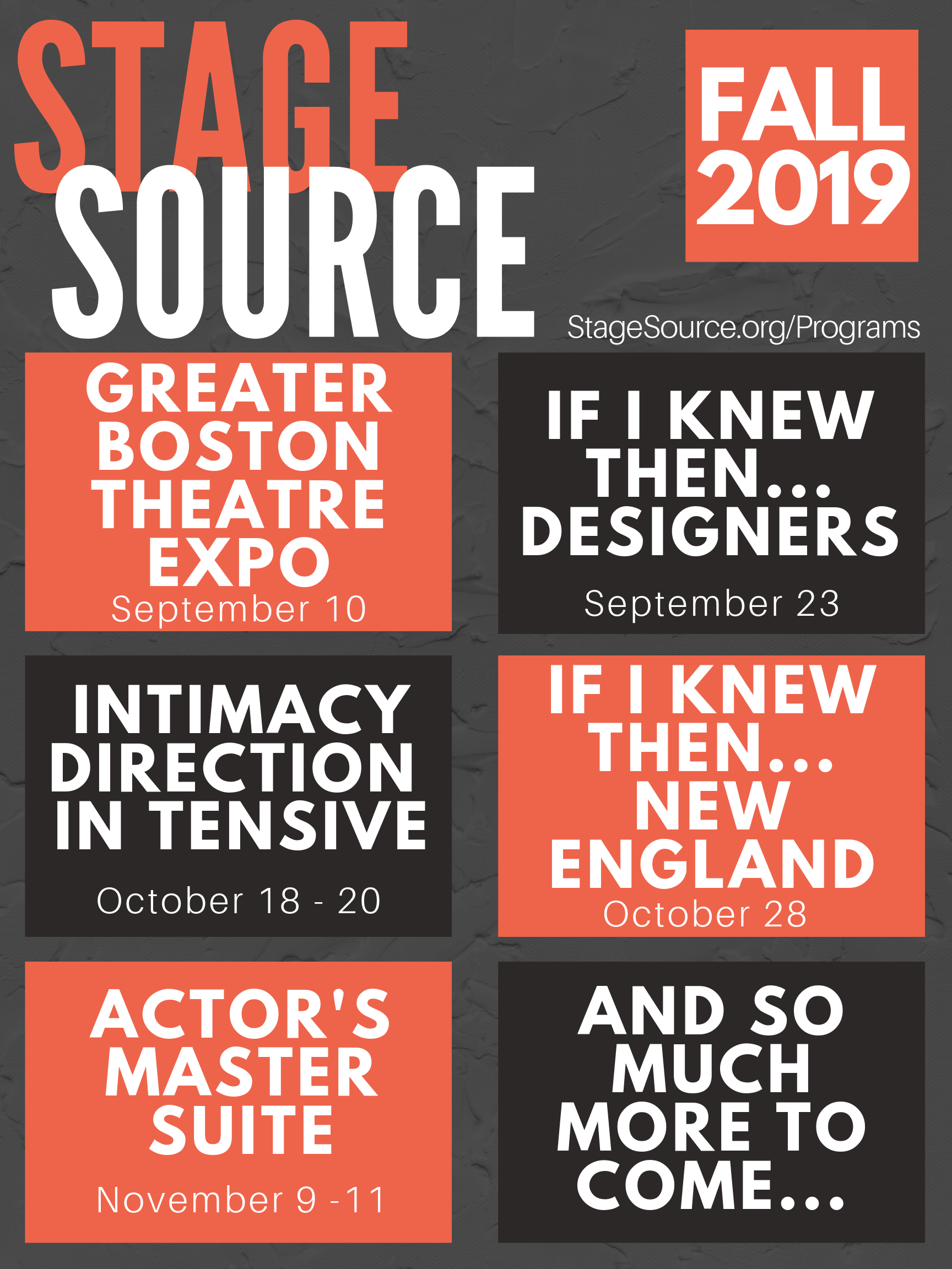 Fall Programs 2019