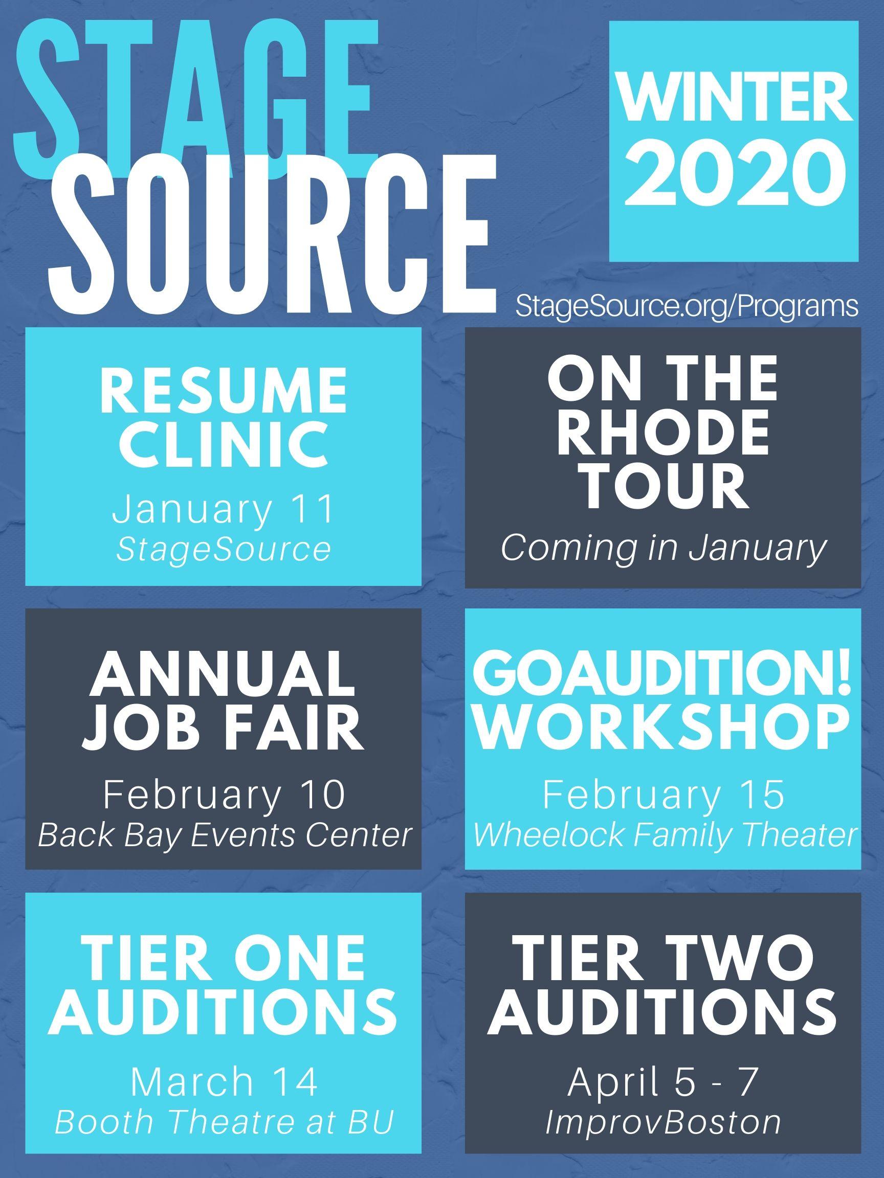 2020 Winter Programs