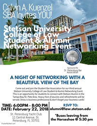 Stetson University College of Law Student & Alumni Networking Event ~ Sponsored by the St. Pete Bar