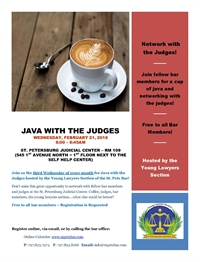 JAVA with the JUDGES at St. Pete Judicial Building