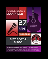 Gulfcoast Legal Services Presents Justice, Soul & Rock 'N' Roll at 3 Daughters Brewing