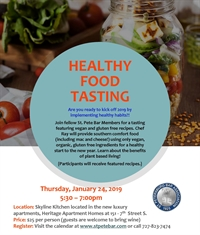Healthy Food Tasting  *To be rescheduled
