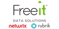 Freeit Data Solutions/ Netwrix & rubrik logos