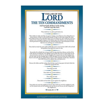scripture passage poster the ten commandments exodus 20. Black Bedroom Furniture Sets. Home Design Ideas