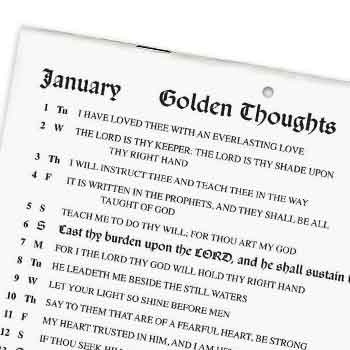 Picture of a Golden Thoughts Calendar