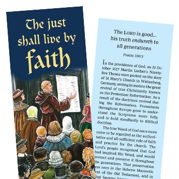 Picture of the 2017 Reformation Bookmark