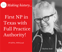 TNP Webinar: My Road to Full Practice in the Texas VA, featuring Charlene Seale