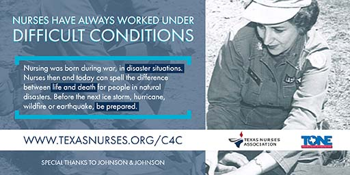 Nursing was born during war and disaster situations.