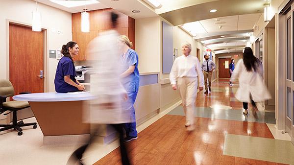 busy nurses station
