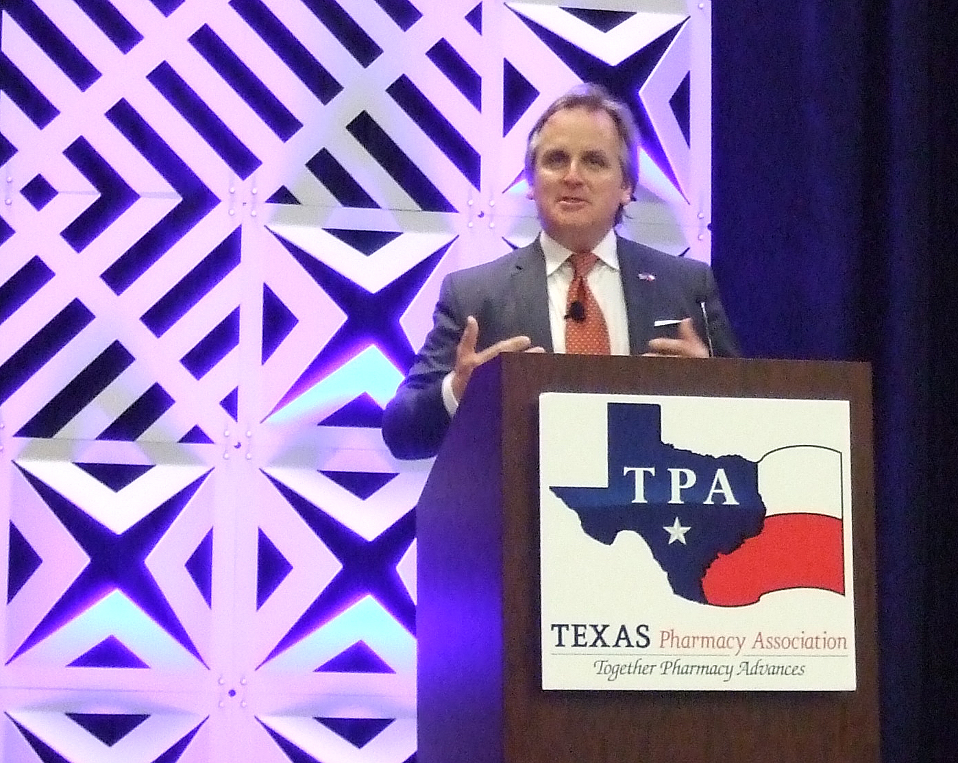 State Sen. Bryan Hughes speaks at the 2019 TPA Conference.